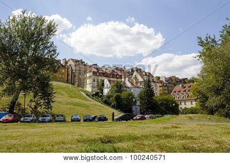 Townhouses, Old Town In Warsaw, Poland