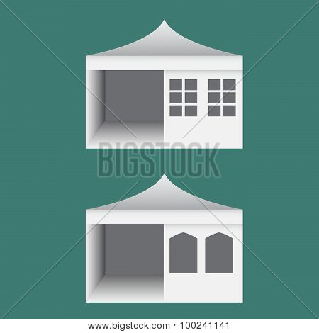 Folding Tent With Windows In Europe Style