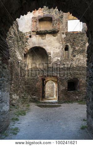 Entrance To The Ruins Of Bolkow Castle In Poland