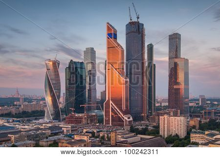MOSCOW - JUN 4, 2015: Moscow International Business Center. Investments in Moscow International Business Center was approximately 12 billion dollars