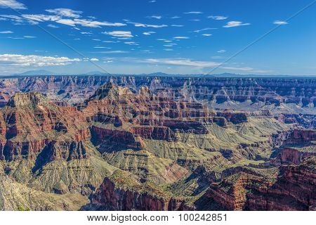 View of the Grand Canyon from the North Rim Overlook
