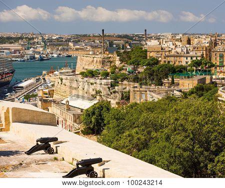 beautiful view on Valletta  in Malta