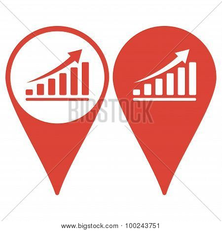 Map Pointer. Vector Economic Icons