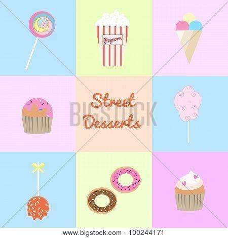 Street Desserts Set.