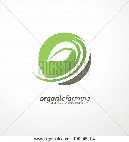 Organic farm logo design concept