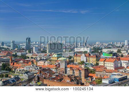 Zagreb modern skyline