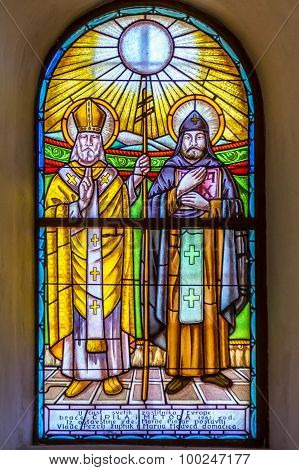 St Cyril And Methodius Stained Glass Window