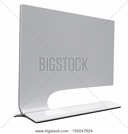 Ultrathin computer display in futuristic style. 3d graphic