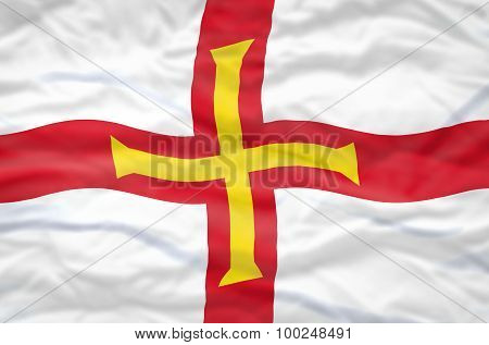 Guernsey flag.