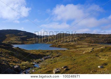 Mountain Lake On The Ridge Musta Tunturi