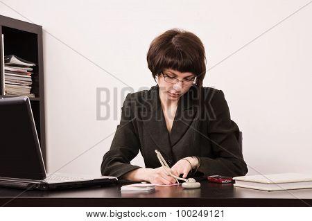 Secretary In A Office