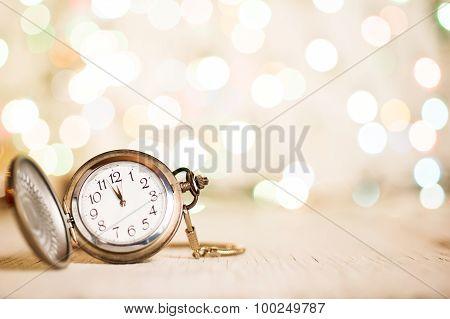 New Year Clock at Midnight