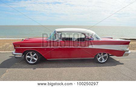 Classic Red Chevrolet Belfin