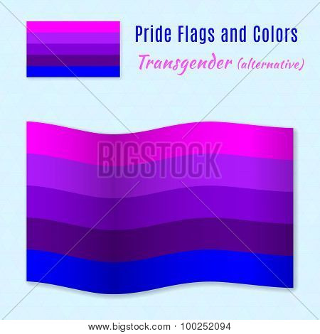 Transgender Pride Flag With Correct Color Scheme