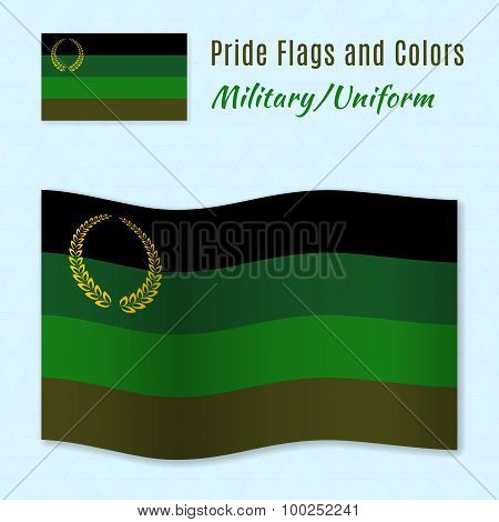 Military Or Uniform Pride Flag With Correct Color Scheme