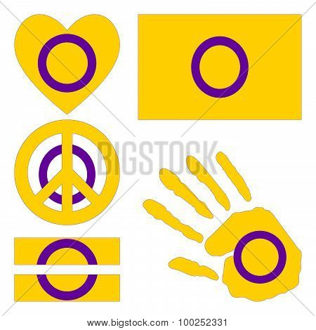 Intersex Pride Design Elements.