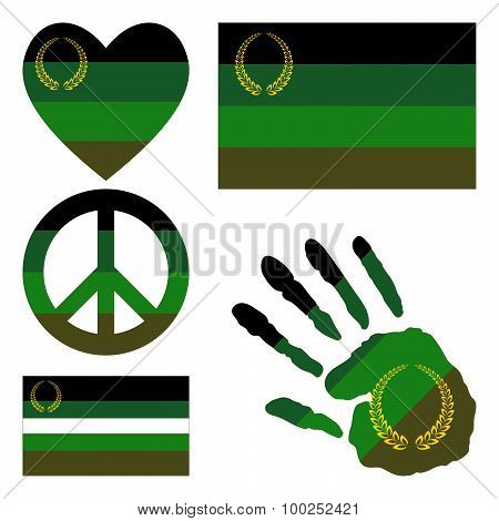Military Or Uniform Pride Design Elements.