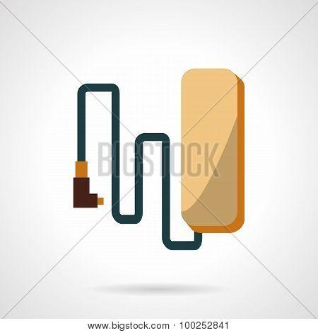 Flat design e-bike battery vector icon