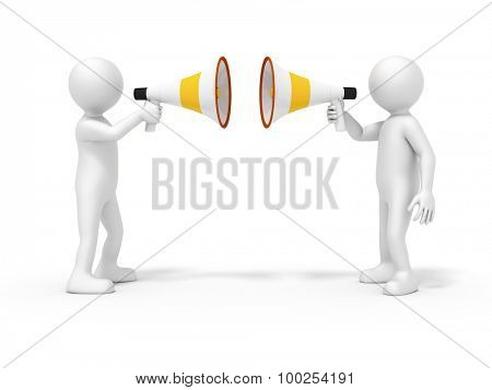 An image of two men with megaphone