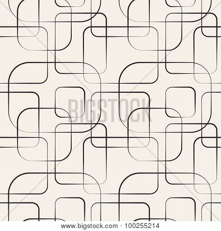 Abstract geometric line and square seamless pattern.