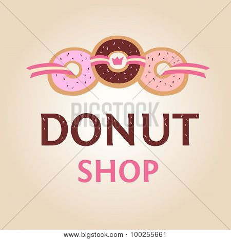 Template logo for donut shop