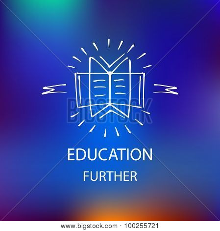 Logo library, bookstore, educational institution, educational se