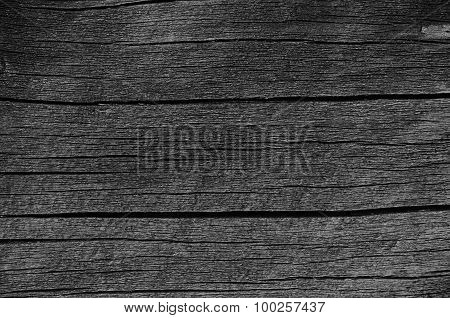 Wooden Plank Board Grey Black Wood Tar Paint Texture Detail, Large Old Aged Dark Gray Detailed