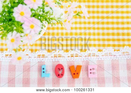 Love Aphabet With Flower