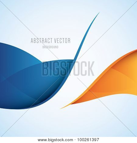 Abstract blue and orange modern vector background
