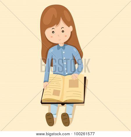 girl read book