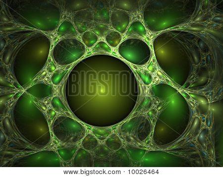 Green bubbles backdrop
