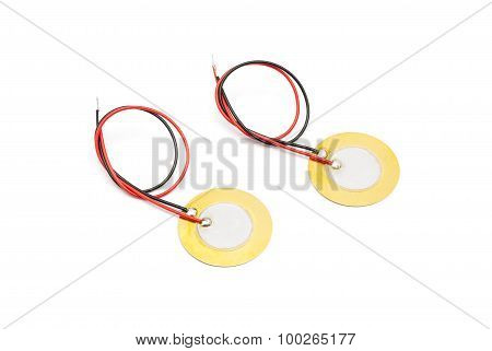 Piezoelectric Buzzer And Sensor With Lead Wire