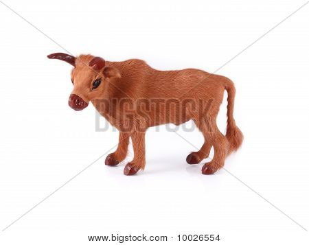 Model Cow Isolated On White