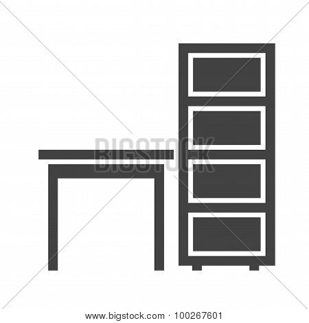 Table with Shelves