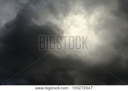Lighting In The Sky Thunderstorm Clouds