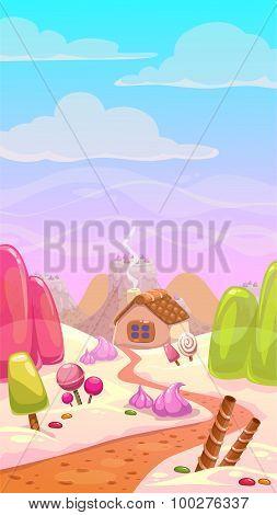 Candy world illustration