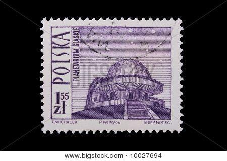 Poland - Circa 1966: A Stamp - Planetarium