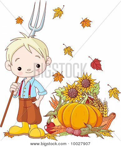 Young Farmer Boy