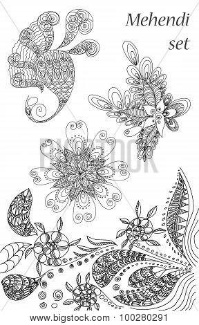 Tattoo Henna Set