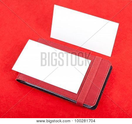 Cards Holder And  Blank Business Cards