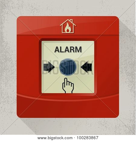 Fire alarm push button