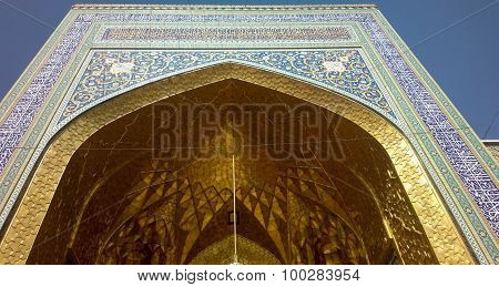 Door of shrine of Imam Ali al-Rida