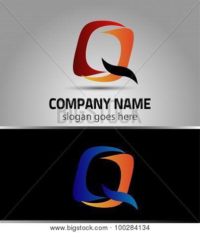 Corporate Logo Q Letter company vector design template