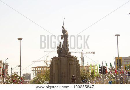 One Iranian mythology statue