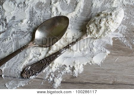 One Tablespoon Of Flour.
