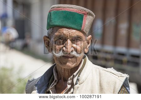 Old Local Man In Manali, India