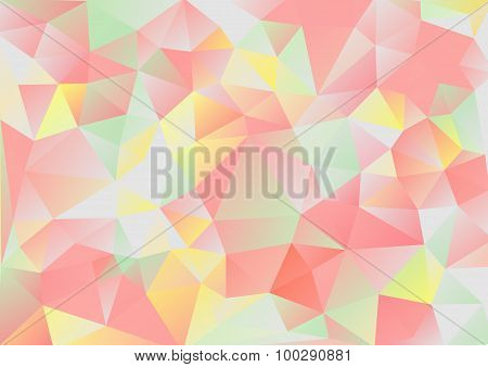 Cubism Background Gray And Red Green Yellow