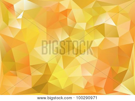 Cubism Background Bitter Yellow And Orange