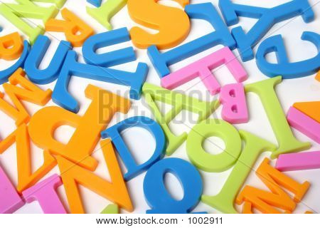 magnetische Buchstaben