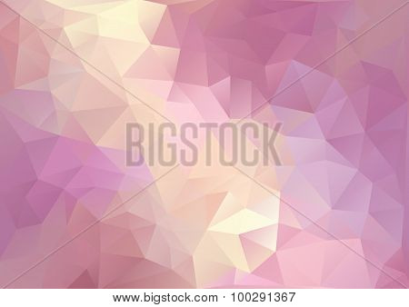 Cubism Background Red Purple And Pale Yellow
